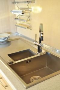 Montera blandare i diskbänk